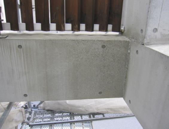 コンクリート打ちっぱなし仕上げの再生・保護工事 Sクリートガード4
