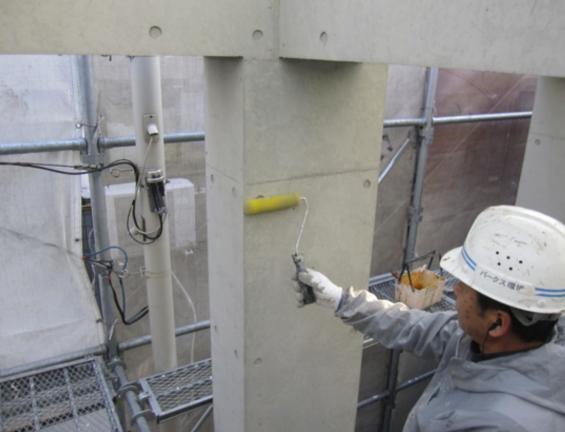 コンクリート打ちっぱなし仕上げの再生・保護工事 Sクリートガード7