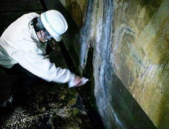 Sクリートアップのみで某工場地下ピットの漏水を止める4