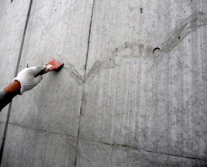 1.2 Sクリートカラーの施工時にスポンジを用いることでぼかし塗りも可能