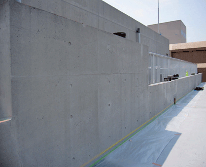 2.6 施工完了。コンクリートの美観が甦り、改質・防水保護されています。