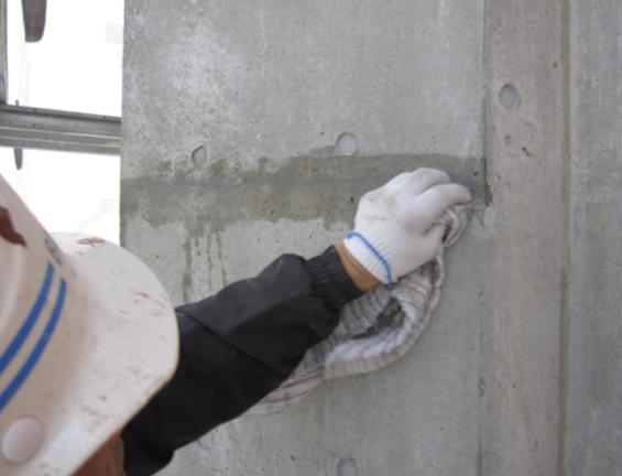 表面に付着している材料は極力そぎ取るかふき取る。