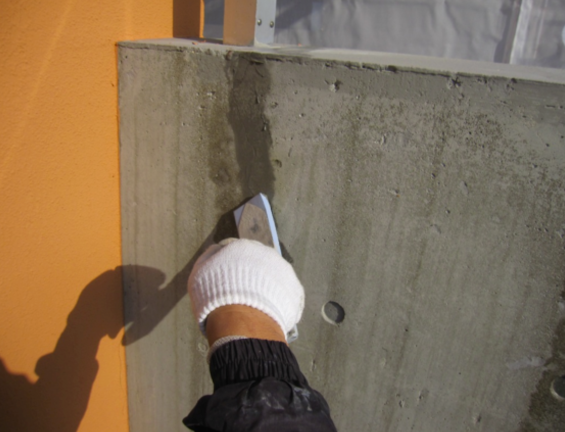 コンクリート打ちっぱなし補修・保護工事(sクリートクラック)15