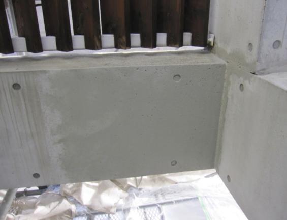 コンクリート打ちっぱなし仕上げの再生・保護工事 Sクリートガード6