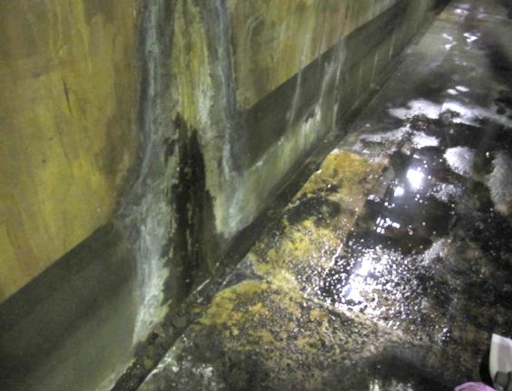 漏水量が多く、常に床が水浸しの状態でした。