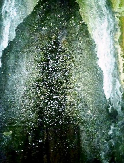 ひび割れ(クラック)による漏水箇所拡大写真