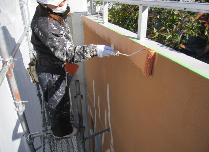塗装材のクラック補修09