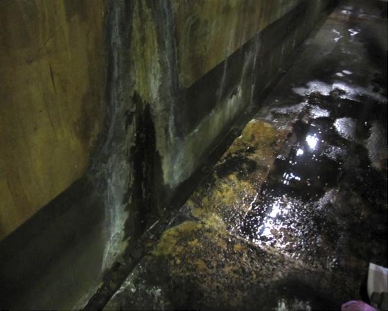 コンクリートの漏水