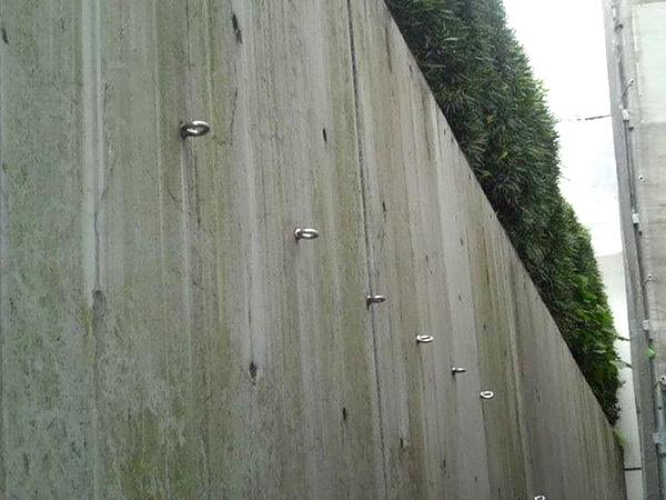 土留めの擁壁