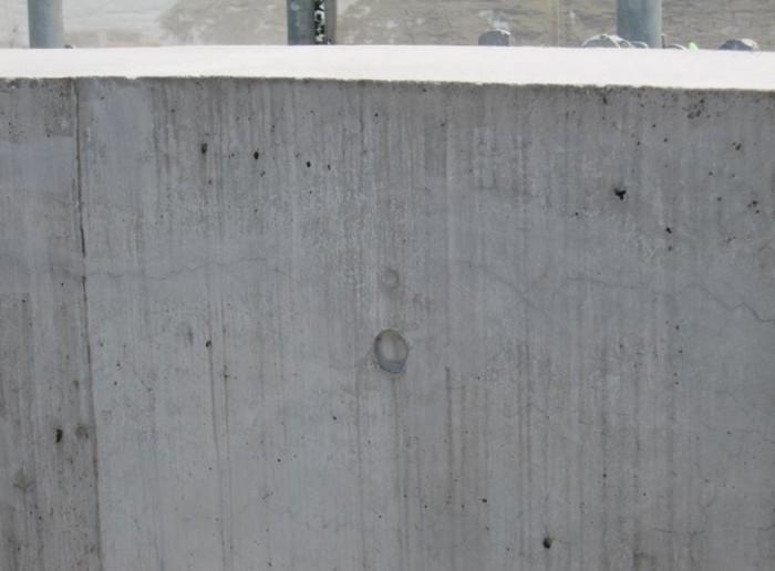 ベランダ内壁 Sクリートクラックをすり込み後