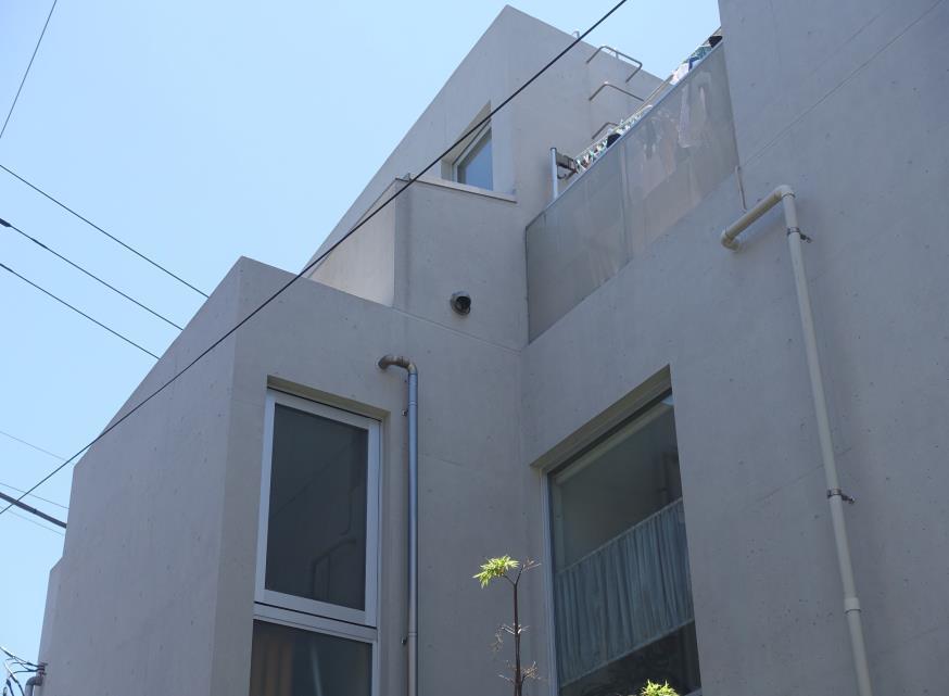 北面 Sクリートカラー艶有タイプ 仕上げ塗り 完了1