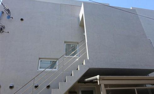 北面 Sクリートカラー 仕上げ塗り 完了