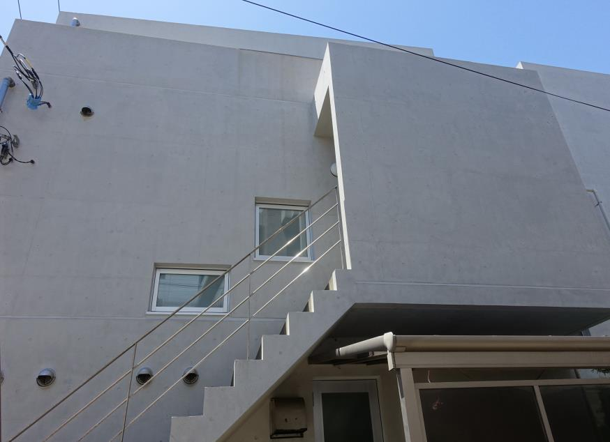 北面 Sクリートカラー艶有タイプ 仕上げ塗り 完了